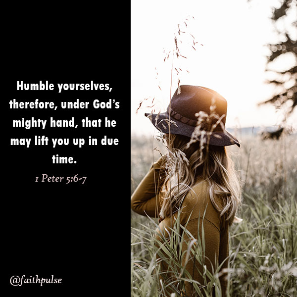 bible verses for depression - 1 Peter 5:6-7