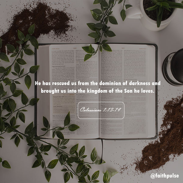 Easter Bible Verses Colossians 1:13-14