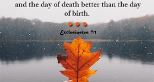 Bible Verses About Death - Ecclesiastes 7:1