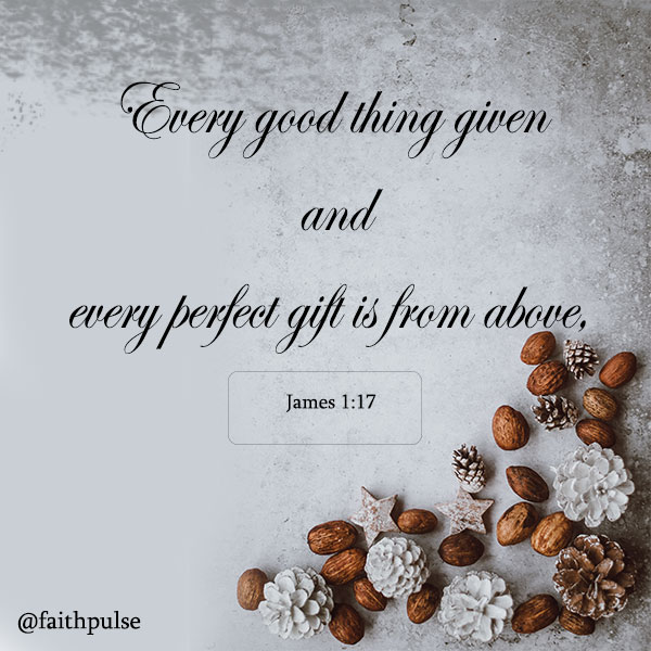 Christmas Bible Verses - James 1:17