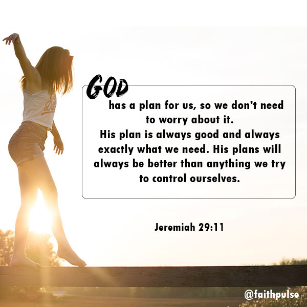 Bible Verses For Anxiety - Jeremiah 29:11
